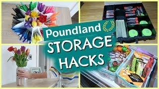 POUNDLAND STORAGE HACKS & DIY ORGANISATION  |  STORAGE IDEAS TO ORGANIZE YOUR LIFE