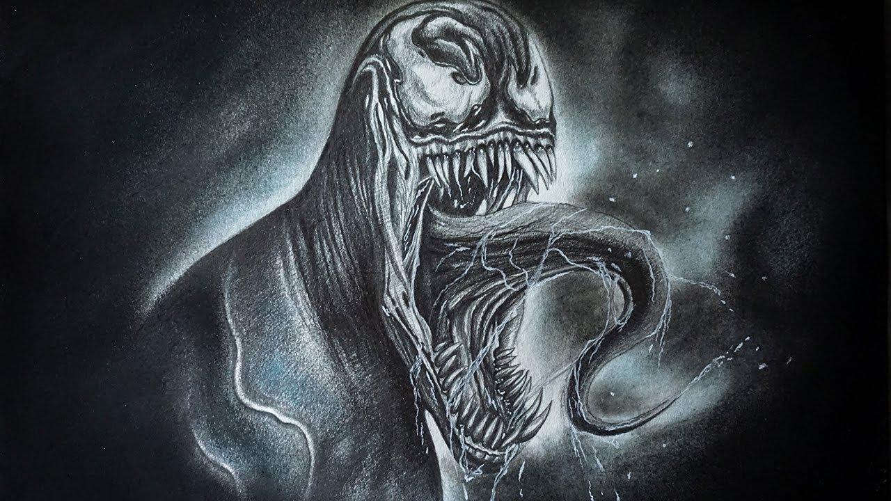 Dibujo Realista De Venom 2018 A Lápiz