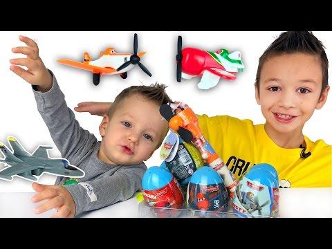 Видео, Самолеты Дисней сюрприз игрушки распаковка Disney Planes surprise eggs toys Видео для детей