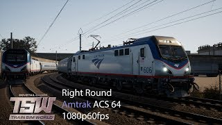 Фото Right Round  Northeast Corridor New York  Train Sim World 1080p60fps