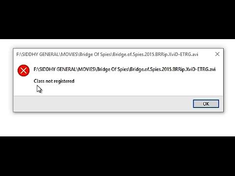 Fix Class Not Registered Error in Windows Media Player