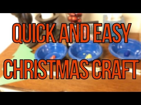 Quick and Easy Christmas Craft Project Pinterest