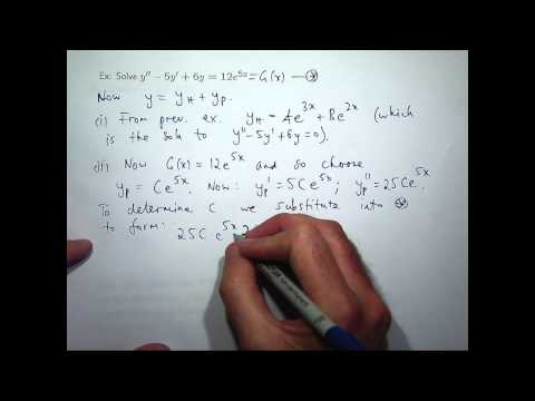 Nonhomogeneous second-order differential equations