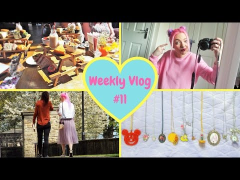 Weekly Vlog #11 | Disney necklace collection & afternoon tea