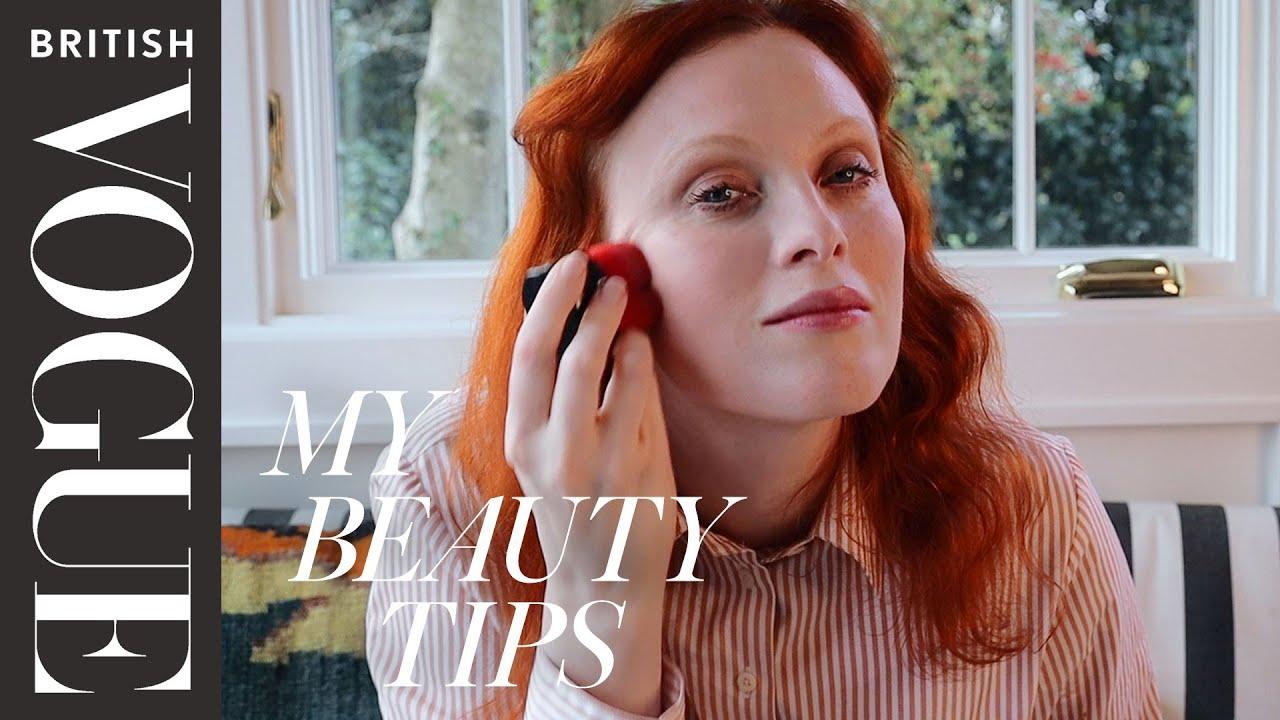 Karen Elson's Working-From-Home Makeup Look | My Beauty Tips | British Vogue