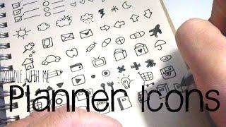 Video Bullet Journal / Planner Icon Doodles | Doodle with Me download MP3, 3GP, MP4, WEBM, AVI, FLV Juli 2018