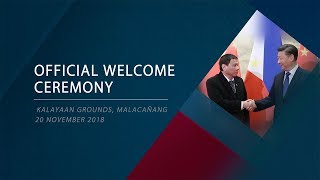 Official Welcome Ceremony for President Xi Jinping of the People's Republic of China 11/20/2018