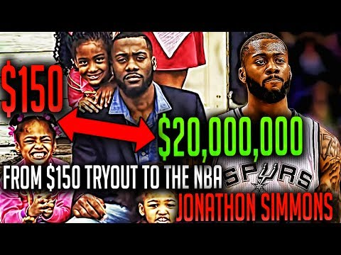 $150 TRYOUT to A $20 MILLION Contract! The Incredible Jonathon Simmons Story