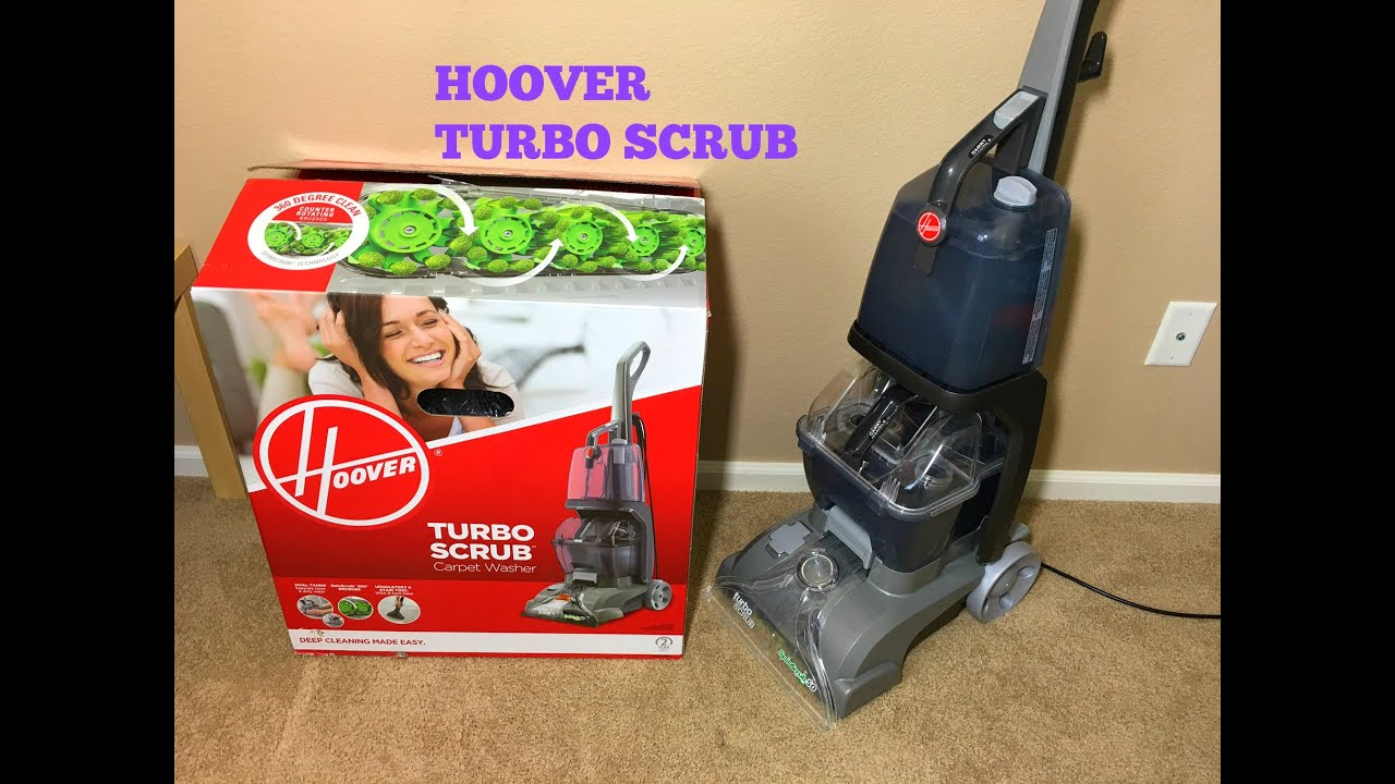 Hoover Turbo Scrub Carpet Washer Unboxing And Demo Youtube