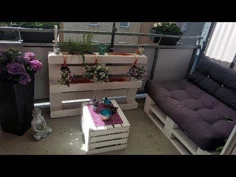DIY Sofa Paletten Möbel selber bauen aus Europaletten