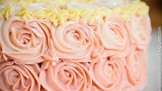 Handmade Soap - Strawberry and Lemon Rose Cake