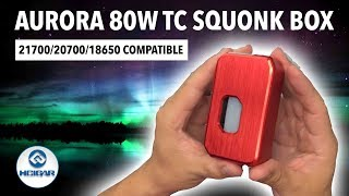 HCIGAR 21700 Towis Aurora 80W Squonk Mod! No 18650 Battery Adapter Needed!