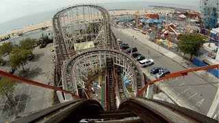 Coney Island Cyclone POV 1080 HD High Def Front Seat New York City