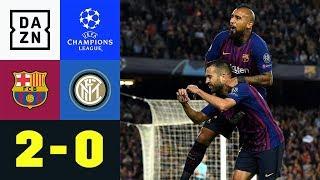 Mit Edelfan Lionel Messi: Barca schlägt Inter | FC Barcelona - Inter 2:0 | UEFA CL | DAZN Highlights
