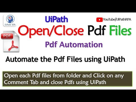 UiPath-Open Pdf files from folder|Pdf Automation|UiPath RPA