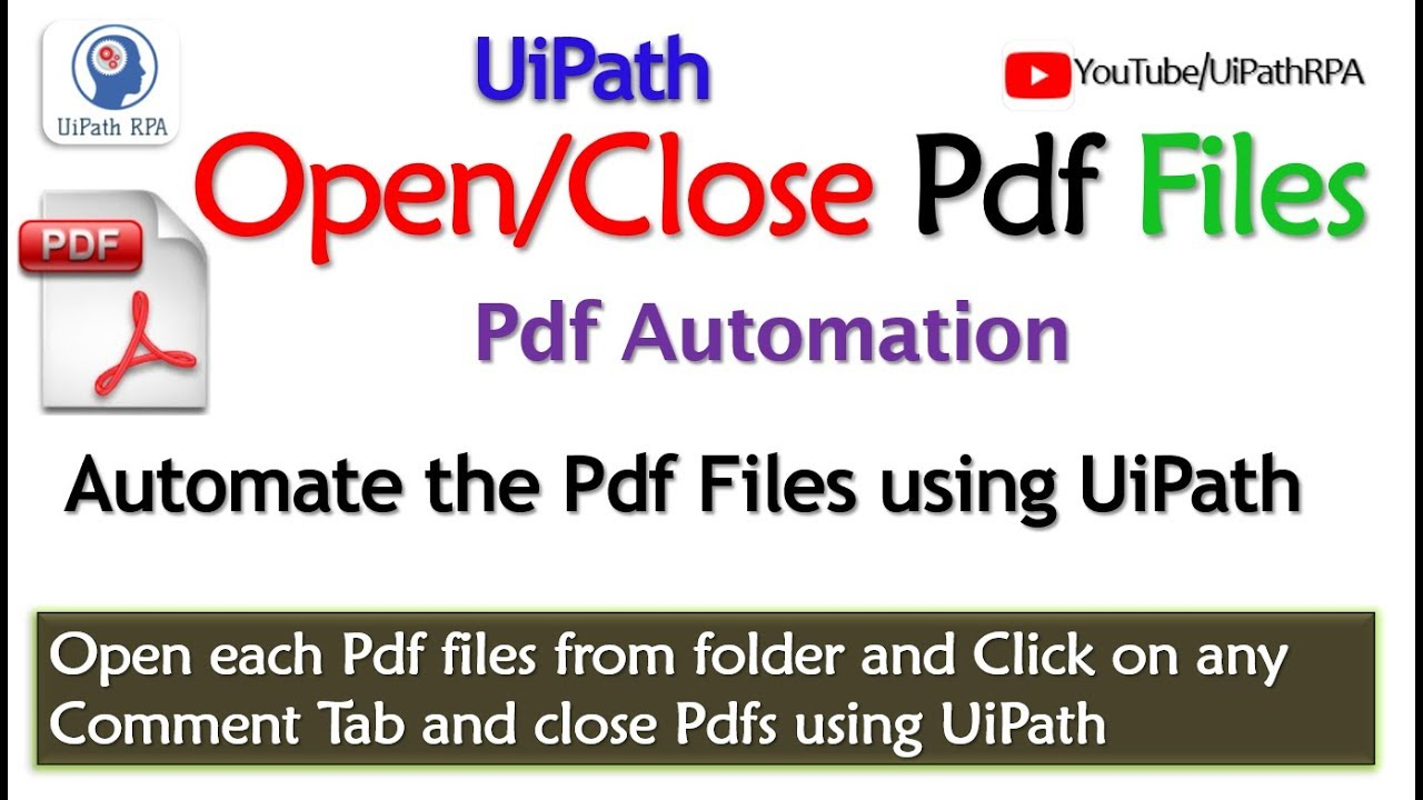 UiPath-Open Pdf files from folder|Pdf Automation|UiPath RPA Tutorial