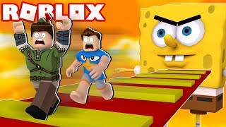 IMPOSSIBLE TO ESCAPE FROM THE SPONGE BOB OF EVIL IN THE ROBLOX!! Survived??