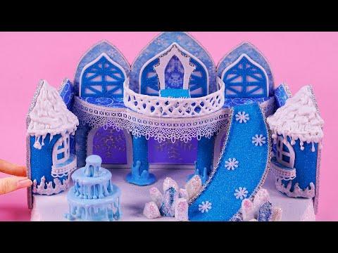 DIY Miniature Dollhouse ~ Elsa's ice palace - Frozen 2