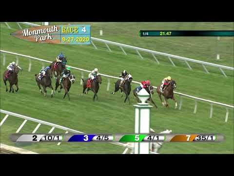 video thumbnail for MONMOUTH PARK 09-27-20 RACE 4