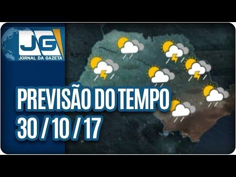 Previsão do Tempo - 30/10/2017