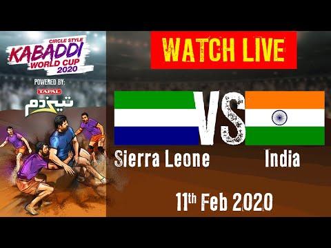 Kabaddi World Cup 2020 Live - Sierra Leone Vs India - 11 Feb - Match 8 | BSports