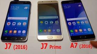 Galaxy A7 (2016) Review - A7 (2016) vs. J7 (2016) vs. J7 Prime (tset speed & camera)