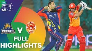 Long Highlights   Karachi Kings vs Islamabad United   Match 6   HBL PSL 6   MG2T