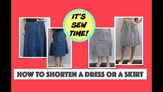 HOW TO HEM A DRESS OR A SKIRT, SEWING PROJECT FOR BEGINNERS