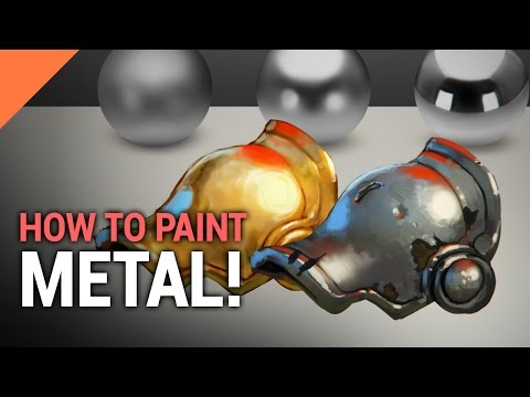 How To Paint METAL! In Photoshop