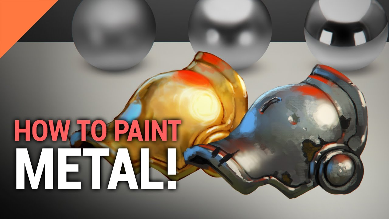 How To Paint METAL In Photoshop  YouTube