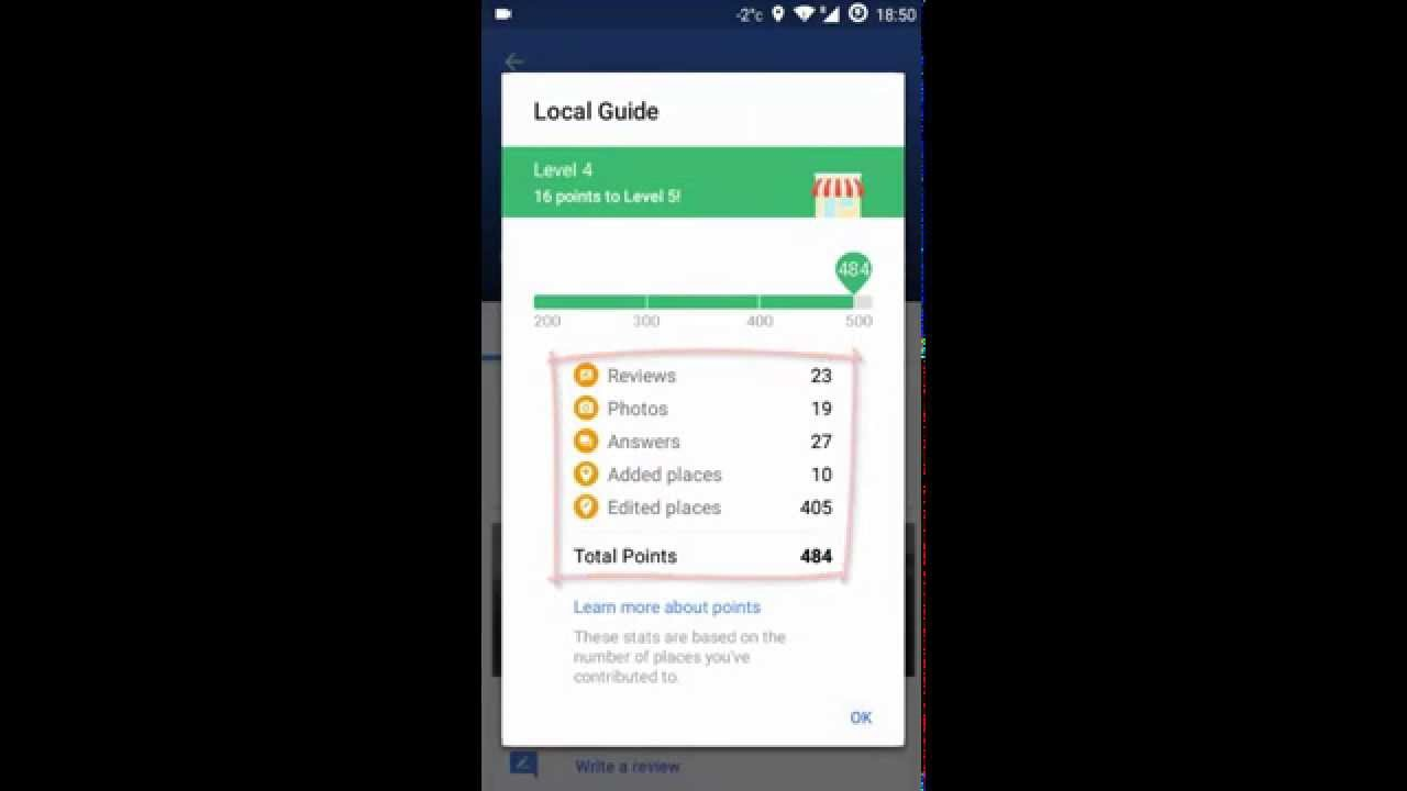 How to check the contribution points and level of Local Guide in     How to check the contribution points and level of Local Guide in Google  Maps App