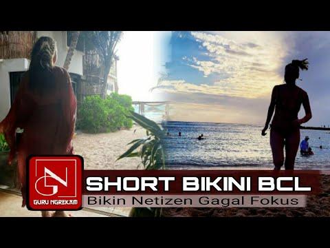MOMEN LIBURAN BUNGA CITRA LESTARI BERPAKAIAN SEXY    Short Bikini Unge Bikin Netizen GALFOK