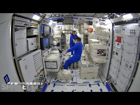Kolla in när taikonauter går ombord på ny rymdstation Kinesiska rymdfarare lämnade jorden tidigare idag