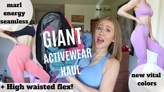 HUGE AliExpress Activewear Haul!   Gymshark Dupes, High Waisted Flex, New Energy + Vital Seamless