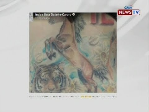 "NTG: Davao City Mayor Sara Duterte, nag post ng litrato ng aniya'y ""triad tattoo"""