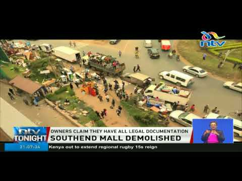 South End Mall located along Langata road demolished by NEMA despite court order