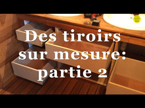 des tiroirs sur mesure partie 2 youtube. Black Bedroom Furniture Sets. Home Design Ideas
