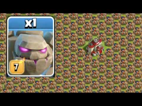 1 MAX GOLEM VS 500 MAX GIANT BOMB ! OMG! | ONE GOLEM OR TWO? ||