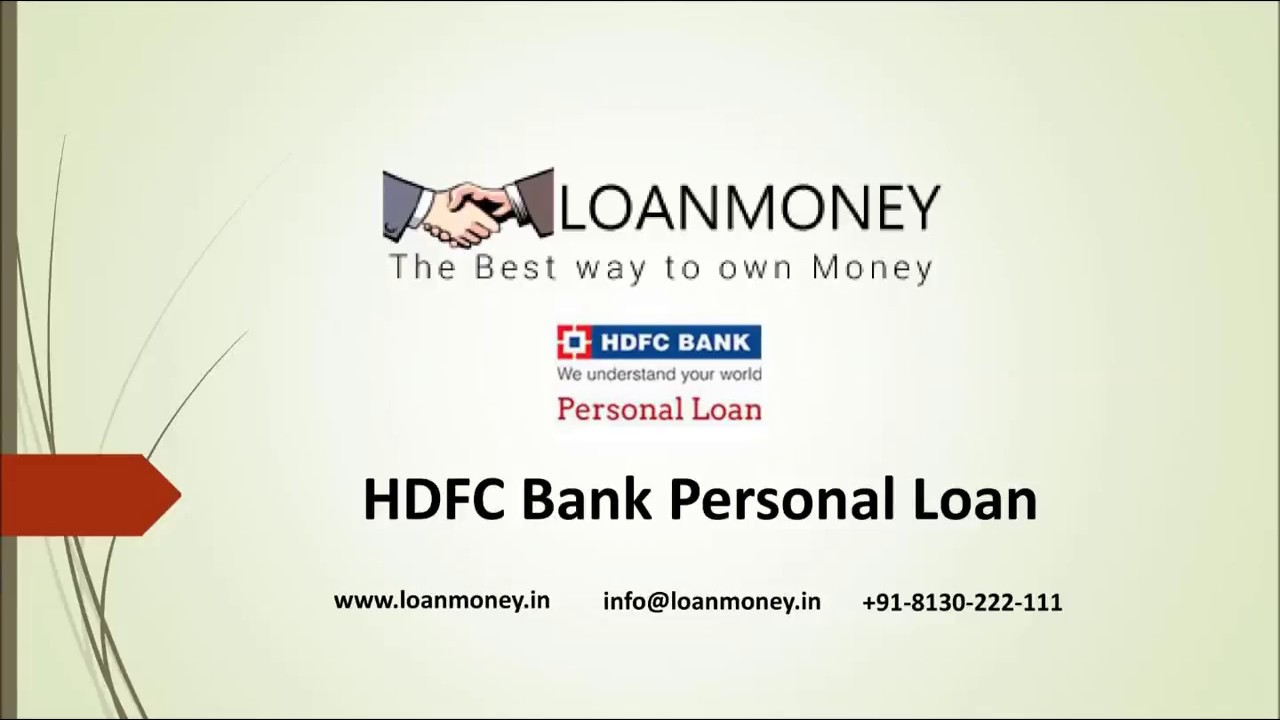 HDFC Bank Personal Loan in Delhi/NCR through LoanMoney (Audio) - YouTube