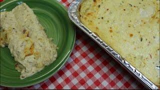 Salsa Verde Sour Cream Chicken Enchiladas Chicken Enchilada Recipe Bulk Cooking  Noreens Kitchen