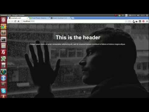 Add a large background image to your web page