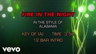 Alabama - Fire In The Night (Karaoke)