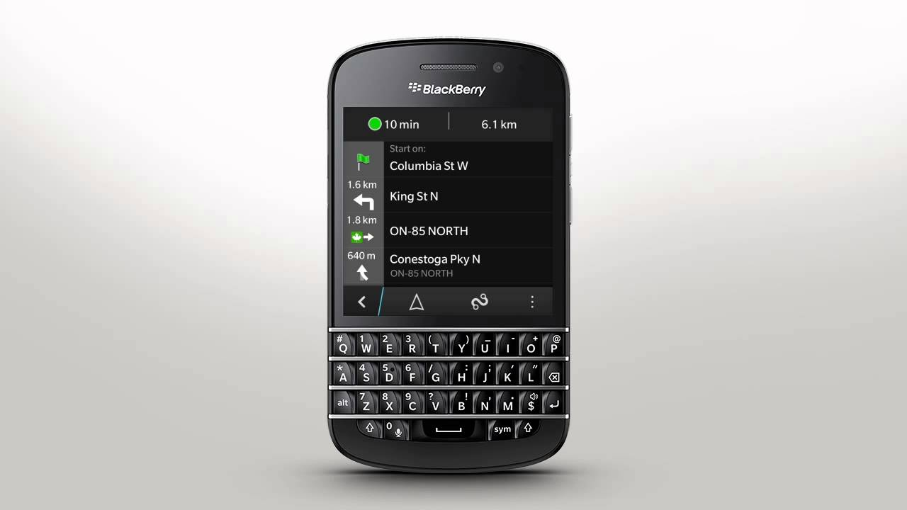 blackberry q10 how to add more maps