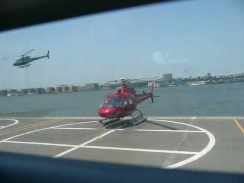 Busy Heliport in New York City