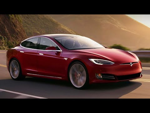 Solar-powered tech charge electric cars while on the road; Tesla Model S - Compilation