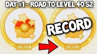 I BROKE MY POKEMON GO RECORD! - POKEMON GO ROAD TO LEVEL 40 (SEASON 2) - #1