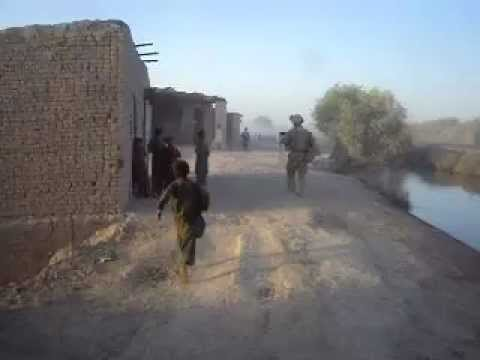 US Marines Local Patrol Afghanistan, Helmand Province Garmsir District
