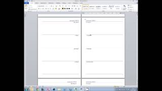 Mail merge in Office 2010 for Filofax diary files
