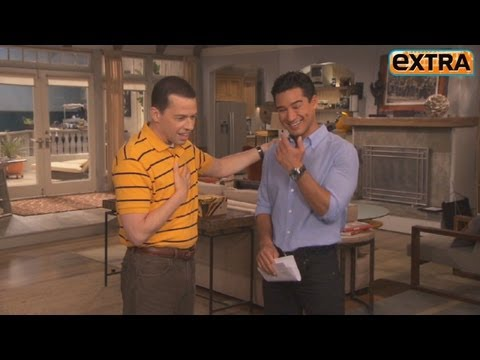 On the Set of 'Two and a Half Men': Jon Cryer and Chuck Lorre