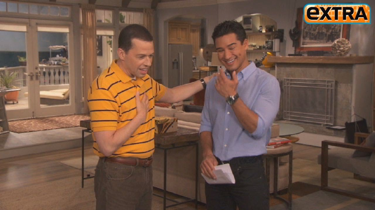 On the Set of Two and a Half Men Jon Cryer and Chuck